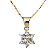 Adi Paz Crystal Star of David Pendant w/ Chain,14K Gold - J338331