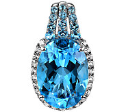 15.00cttw Blue Topaz & White Topaz Enhancer, Sterling - J338531