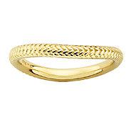 Simply Stacks Sterling & 18K Gold Plated Herringbone Ring - J338931