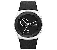 Skagen Mens Black Chronograph Dial Watch - J339731