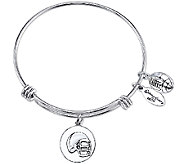 Extraordinary Life Sterling Football AdjustableBangle - J341231