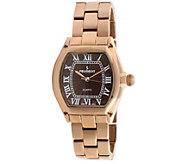Peugeot Womens Rosetone Brown Dial Bracelet Watch - J341931