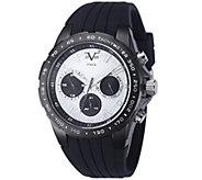V19.69 Italia Mens Silvertone Dial Watch w/Black Rubber Strap - J343931