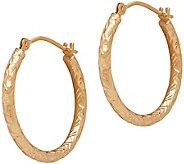 EternaGold Crystal-Cut Round Hoop Earrings, 14KGold - J345531