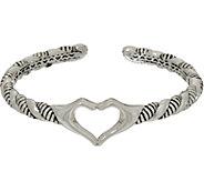 JAI Sterling Silver I Love Cuff - J347531