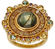 Shana Gulati Sterling or 18K Clad Gemstone & Diamond Slice Dale Ring - J347631