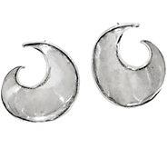 Or Paz Sterling Silver Sculpted Hoop Earrings - J350231