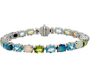 Judith Ripka Sterling 8 15.50 cttw Multi Gemstone Tennis Bracelet - J350331
