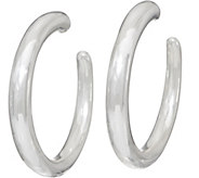 Simon Sebbag Sterling Silver Electroform Smooth Hoop Earrings - J351031