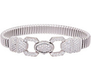Judith Ripka Verona Sterling Tubogas Bracelet 20.8g - J351531