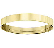 Womens 14K Yellow Gold 3mm Flat Comfort Fit Wedding Band - J375231