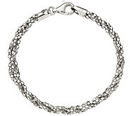 Sterling Twisted Mesh 7-1/2 Bracelet, 6.1g bySilver Style - J375731