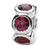 Prerogatives Sterling Red Cubic Zirconia Bead - J108932