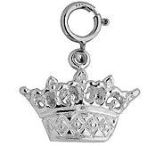 Sterling Crown Charm - J110132