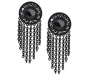 Faceted Crystal Fringe Earrings - J263132