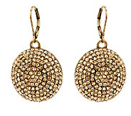 Swirl of Color Pave Drop Earrings - J266432