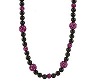 Kenneth Jay Lanes Black & Sparkle Bead Necklace - J270432