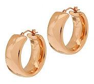 Oro Nuovo 1 Polished Wedding Band Round Hoop Earrings, 14K - J281132
