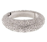 Vicenza Silver Sterling Bold Large Marquise Pattern Domed Hinged Bangle - J285732