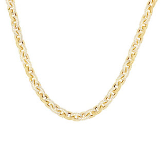Product image of Judith Ripka Sterling & 14K Clad 30.4ct Pave Diamonique Toggle Necklace