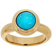 14K Gold Sleeping Beauty Turquoise Polished Ring - J295532