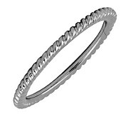 Simply Stacks Black Rhodium-Plated Sterling Ring - Rope Design - J298832