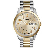 Timex Mens Two-Tone Stainless Steel ExpansionBand Watch - J308832