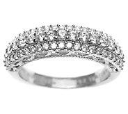 Judith Ripka Sterling Diamonique Pave Ring - J311432