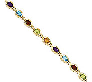 8.10ct tw 7 Multi-gemstone Bracelet, 14K Gold - J311832