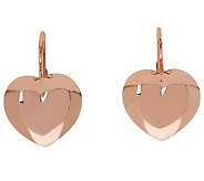 Bronzo Italia Heart-Shaped Lever Back Earrings - J312432