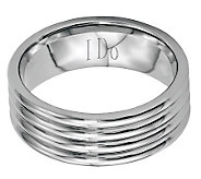 Stainless Steel 8mm Polished Grooved Engravable Ring - J314232