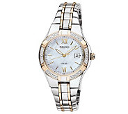 Seiko Womens Two-Tone Diamond Accent Watch - J315432