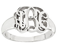 Sterling Polished Script Monogram Ring - J316832