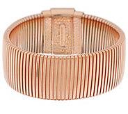 Bronze Large Polished Tubogas Bracelet by Bronzo Italia - J317132