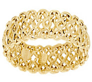 VicenzaGold Woven Flexible Ring 14K Gold - J319432