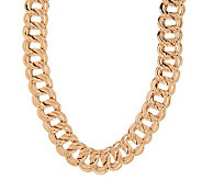 As Is Bronzo Italia 20 Polished Double Curb Link Necklace - J321832