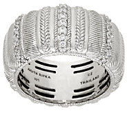 Judith Ripka Sterling Ribbed 3/10 cttw Diamonique Ring - J321932