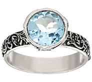 Sterling Silver 1.30ct Gemstone Solitaire Lace Ring by Or Paz - J324132