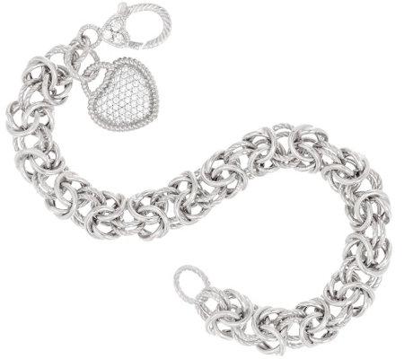 judith ripka sterling verona textured byzantine bracelet