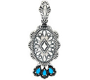 Sterling Silver Concha Design Turquoise Enhancer by American West - J324932