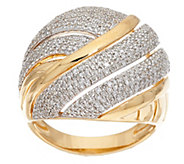 As Is Micro- Pave Domed Diamond Ring, Sterling 1 cttw by Affinity - J326132