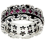 Sterling Silver Lace 1.10 cttw Gemstone Spinner Ring by Or Paz - J326632