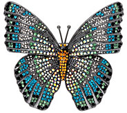 Joan Rivers Magnificent Pave Butterfly Brooch - J327732