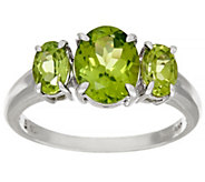 As Is Peridot 3-Stone Sterling Silver Ring, 2.20 cttw - J329132