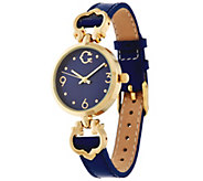 C. Wonder Round Dial Status Signature C Leather Watch - J330632