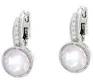 Judith Ripka Sterling Gemstone Lever Back Earrings - J330932