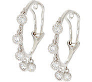Judith Ripka Sterling 1.15 cttw Diamonique Hoop Earrings - J331032