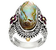 Barbara Bixby Sterling & 18K Abalone Doublet Ring - J331632