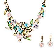 As Is Joan Rivers Language of Flowers Pastel Necklace & Earrings Set - J332432