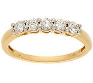 1/2 cttw 5 Stone Diamond Band Ring, 14K Gold, Affinity - J332932
